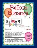 Balloon Bonanza: Equal or Not Equal Number Sentences