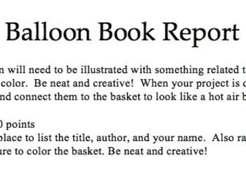 Balloon Book Report