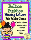Balloon Buddies Missing Letters File Folder Game