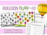 Balloon Bump Game Add 10 +10 Addition Facts 13-22 Worksheet 1.OA.C.6 1.NBT.C.5