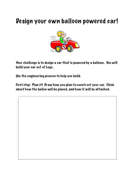 Balloon Car STEM Challenge