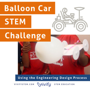 Balloon Car STEM Challenge: Engineering Design Process by Vivify STEM