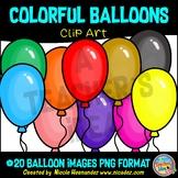 Balloon Clipart for Teachers, Clip Art for Commercial Use