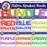 Balloon Clip Art Letters & Frames Bundle