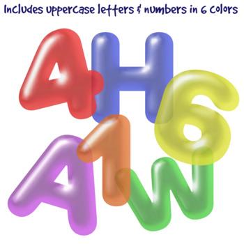 Balloon Clip Art Letters & Frames Bundle