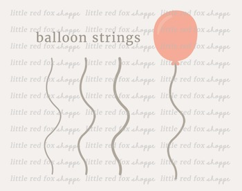 Balloon Clipart; Birthday, Party, Decoration