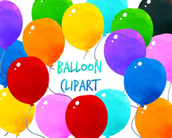 Balloon Clipart, Birthday Clipart for personal and commercial
