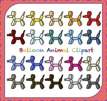 Balloon Clipart / Dog Clipart / Balloon Animals Clipart
