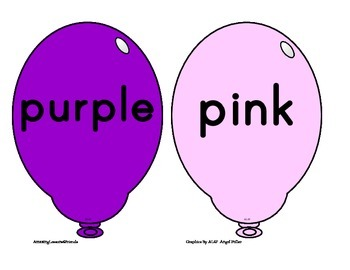 Balloon Color Cards