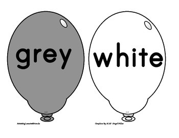 Balloon Color Cards
