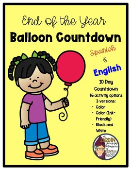 Balloon Countdown in Spanish and English