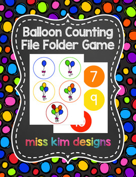 Balloon Counting File Folder Game for Special Education