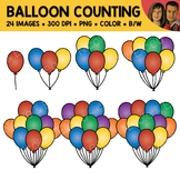 Balloon Counting Scene Clipart