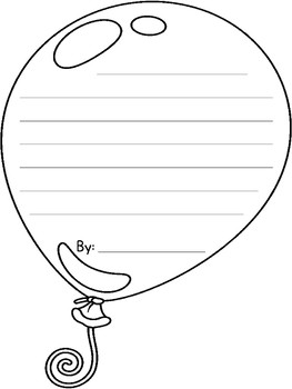 Balloon Writing FREEBIE