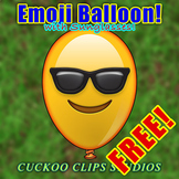 """FREE Balloon Emoji! Balloon with """"Smiling face with sungla"""