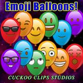 Clip Art: Balloon Emojis! Balloons with Emoticon faces