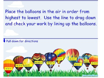 Balloon Fest ! Comparing Decimals with Altitude