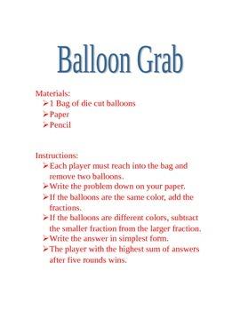 Balloon Grab