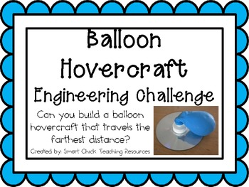 Balloon Hovercraft: Engineering Challenge Project ~ Great STEM Activity!