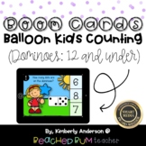 Balloon Kids Counting BOOM Cards - Subitizing: Dominoes