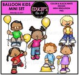 Balloon Kids Mini Clip Art Bundle {Educlips Clipart}
