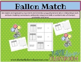 Balloon Match Math Center:  A Sequences Match with Graphs and Tables