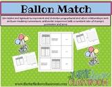 Balloon Match Math Center:  A Sequences Match with Graphs