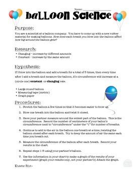 Metric Measurement: Balloon Science Lab