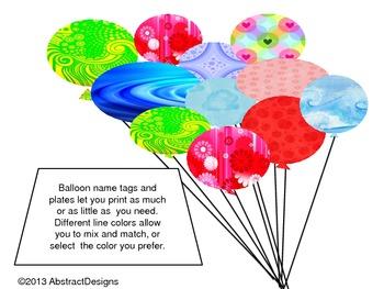 Balloon Name Plates/Tags