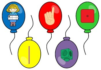 Balloon Number Match - Number Recognition to 5