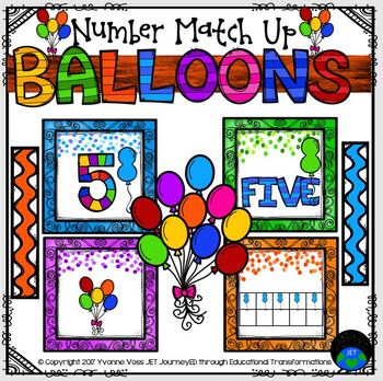 Balloon Number Match Up