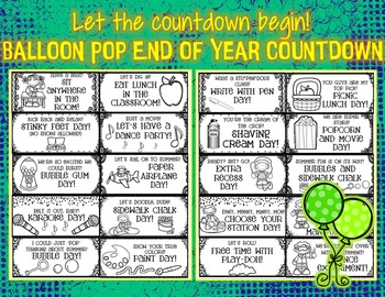 Balloon Pop End of Year Countdown