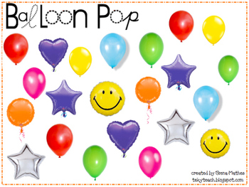 Balloon Pop Ice Breaker for Smart Board
