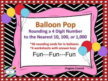 Rounding 4 Digit Numbers---Balloon Pop