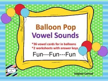 Vowel Sounds---Balloon Pop