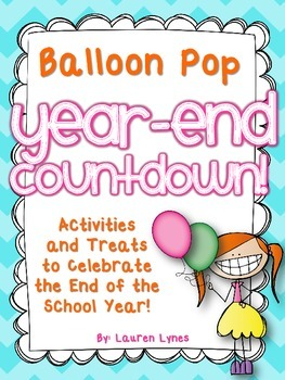 Balloon Pop Year End Countdown FREEBIE!