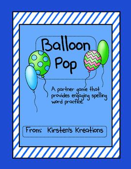 Balloon Pop:  a spelling game