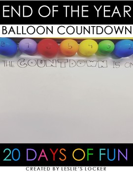 Balloon Pop (end of the year countdown)