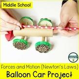 Balloon Powered Race Cars