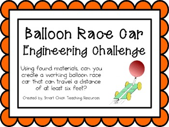 Balloon Race Car: Engineering Challenge Project ~ Great STEM Activity!