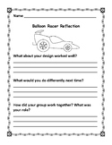 Balloon Racer Planning and Reflection Sheet