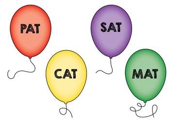 Balloon Rhyming Words