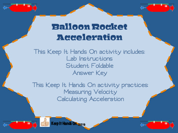 Balloon Rocket Acceleration Lab