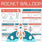 Balloon Rocket! - Fun science experiment worksheet