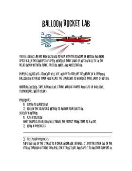 Balloon Rocket Lab
