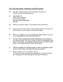 Balloon Rocket Pre lab questions and discussion
