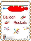 STEM Lab Activity Balloon Rockets - Newton's Third Law of Motion