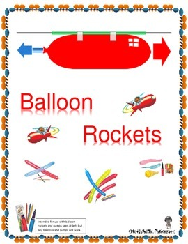 STEM Lab Activity Balloon Rockets - Newton's Third Law of Motion