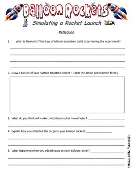 balloon rocket experiment worksheet bluegreenish. Black Bedroom Furniture Sets. Home Design Ideas