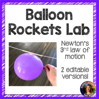 balloon rockets newton s 3rd law lab by science lessons that rock